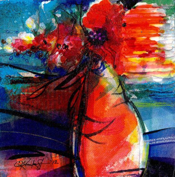 ARTFINDER: Floral Fantasy No.7 by Kathy  Morton Stanion