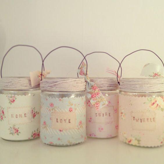 Vintage-Stil Jam Jar-Teelichthalter
