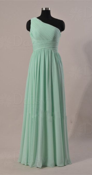 Mint Green Chiffon Bridesmaid Dresses