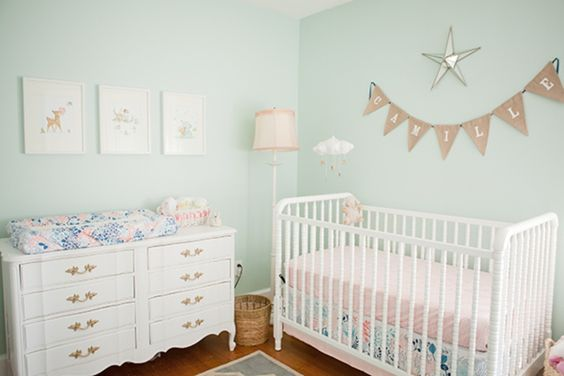 Designer Annette Tatum shows us how vintage decor can be a sweet addition to a nursery, whether it's an heirloom rocker or a refinished armoire.