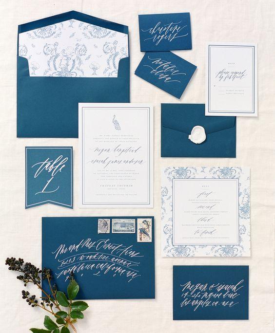 Décoration de mariage - Bleu