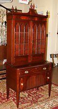 Fine 1840s Era English Regency Mahogany Sheraton Hepplewhite Secretary Desk