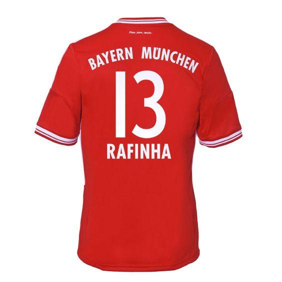 13-14 Bayern Munich #13 Rafinha Home Soccer Jersey Shirt