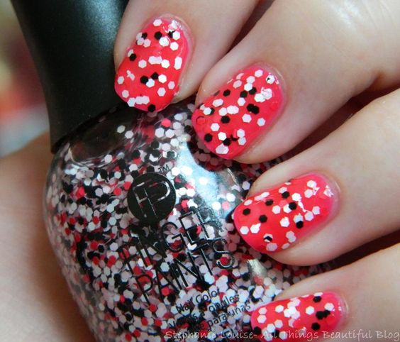 Finger Paints Ka-Pow from the Pop Movement for Summer 2014 Swatches & Review via @Stephanie Close Louise Telford #nails #nailart #glitter