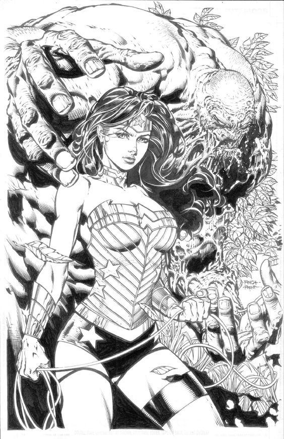 Wonder Woman #36 by David Finch, inks by Richard Friend *