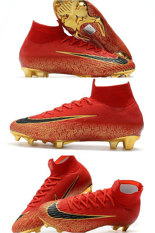 Nike Mercurial Superfly Vi 360 Elite Fg Top Cleats Red Gold Cleats Superfly Nike Gold