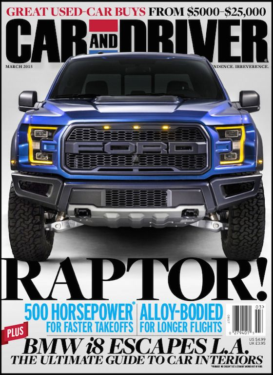 Car And Driver March Cover Ford Raptor Pinterest Ford - Car and driver