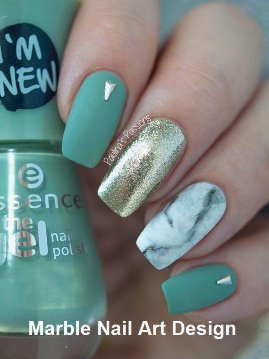 25 Marble Nail Design With Water Nail Polis Nailart Green Nails Marble Nail Designs Nails