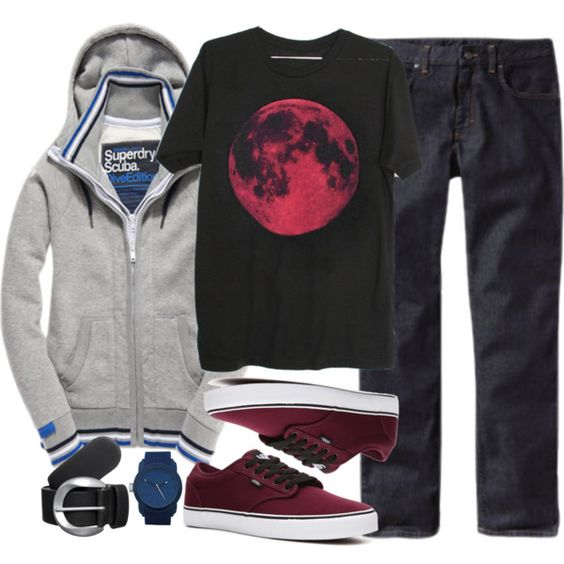 Stiles Inspired Outfit (men) #polyvore check the user she has awesome set for teen wolf