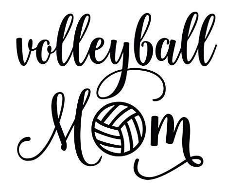Volleyball Mom Vinyl Decal Sports Bumper Sticker Volleyball Mom Bumper Stickers Vinyl Decals