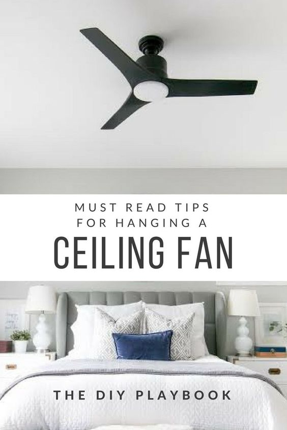 How to install a ceiling fan all by yourself, no electrician required. Check out these tips before you install a ceiling fan in your own home or bedroom!