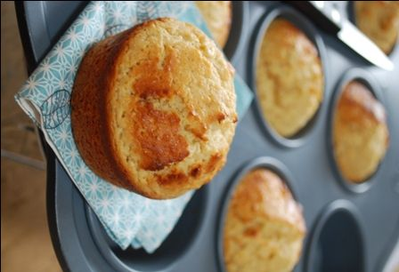 Muffins au citron et à la pâte d'amande... Encore une recette de Clea à tomber par terre !