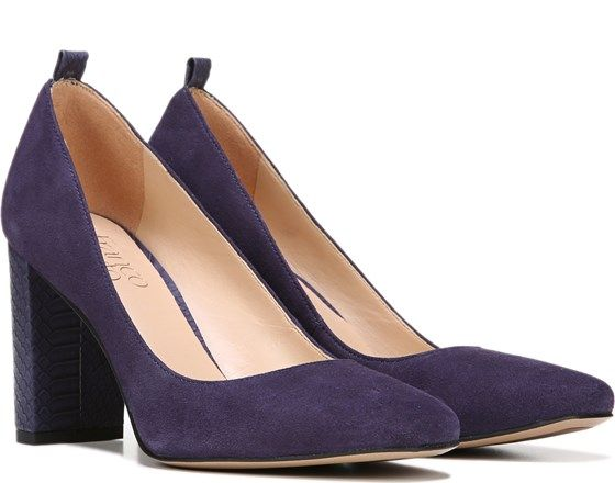Franco Sarto Ingall Pump Dark Purple Suede | Heels Spring/Summer ...