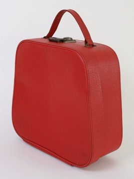 Lipstick Red Vanity Case: Wonderful vintage vanity case in the perfect shade of red.