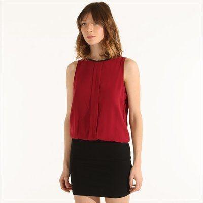Pimkie.es : Este vestido, con mezcla de tejidos, queda perfecto al combinarlo con prendas masculinas.