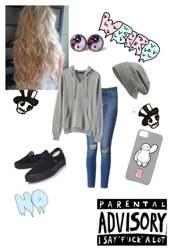 """Bored :)"" by simply-punk ❤ liked on Polyvore featuring mode, Paige Denim, Vans, Miss Selfridge et My Mum Made It"