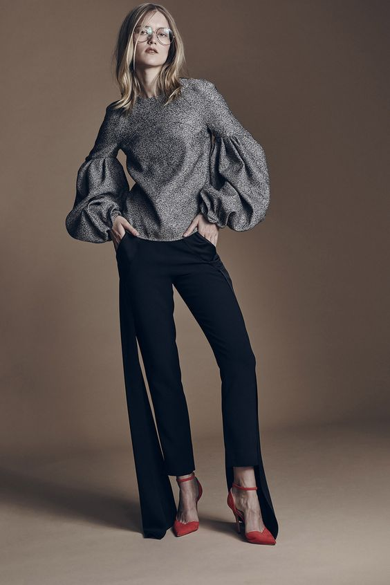 Hellessy Autumn-Winter 2016-2017 (Fall 2016) fashion collection; shape, decoration, silhouette, sleeves: