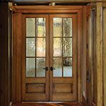 Simpson interior french door 506 in knotty alder with for Baroque glass door