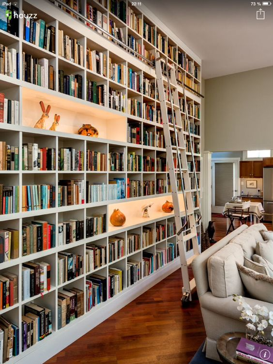 Living Room Library Design Ideas: 62 Home Library Design Ideas With Stunning Visual Effect