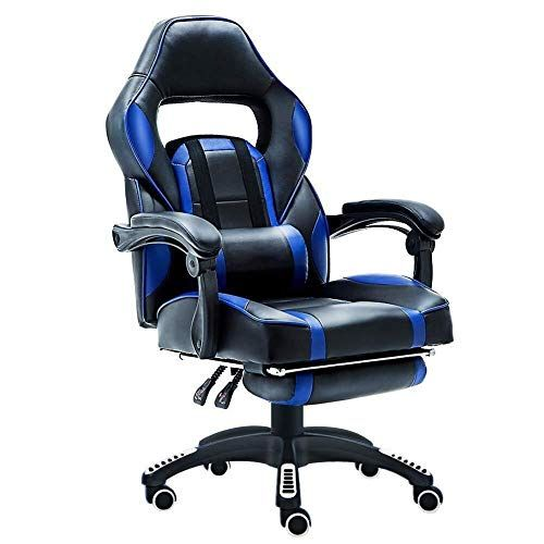 Lerss Home Gaming Chair High Back Ergonomic Style Racing Computer Gaming Chair 180 Degree Reclining Com Adjustable Office Chair Racing Chair Mesh Office Chair