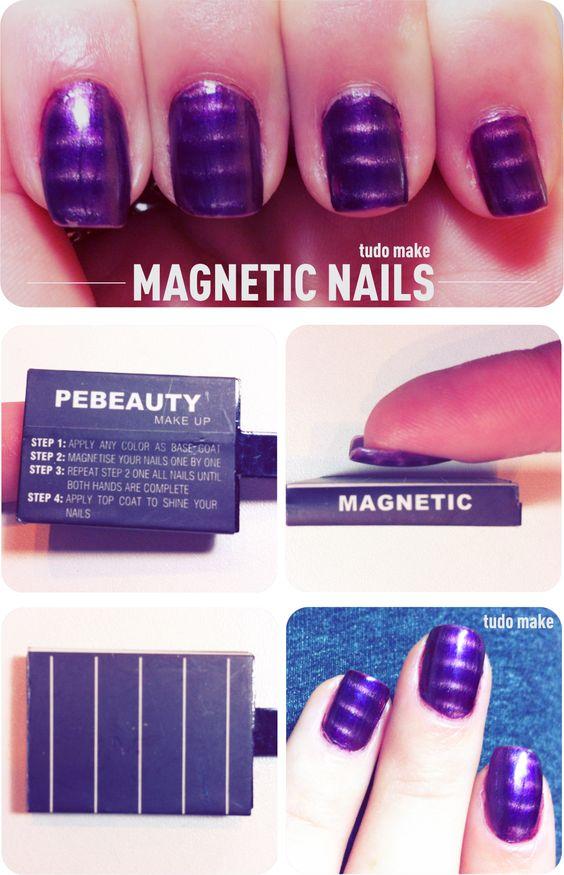 Esmalte magnético - passo a passo - tudo make