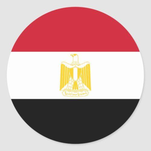 Egypt Flag Round Stickers Zazzle Com In 2020 Egypt Flag Round Stickers Egypt