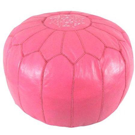 Dark Pink Moroccan Pouf