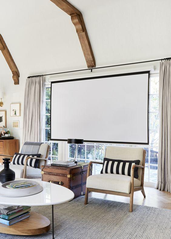 Beamer In Huis Homease Boerderij Woonkamers Thuisdecoratie Design Woonkamers