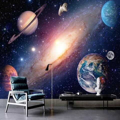 Planets Universe Hd Cosmic Sky Wallpaper For Home Or Business Wallpaper Mural Mural Wallpaper
