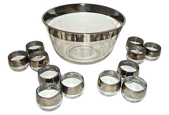 Midcentury Punch Bowl Set, Svc. for 12 on OneKingsLane.com