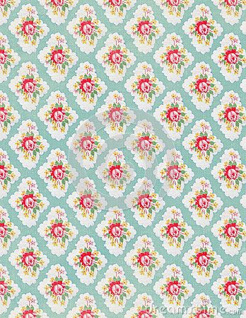Vintage floral wallpaper rose repeat pattern by Jodielee, via Dreamstime