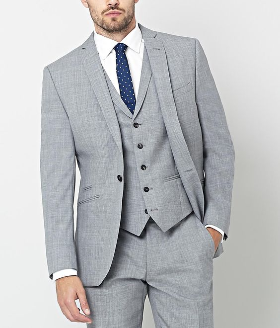Ar Red Nick Hart 3 Piece Light Grey Suit Men S Suits Light Grey Suits Grey Suit Men Classy Suits