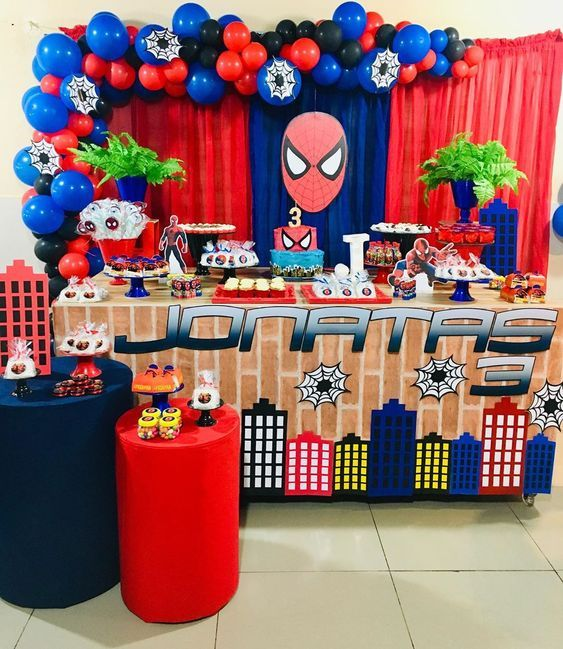 Hoy Aprenderás Los Mejores Temas Para Fiestas Para Niños Por Edad Cumpleaños Para Niño Primer A Birthday Decorations Kids Spiderman Birthday Avengers Birthday
