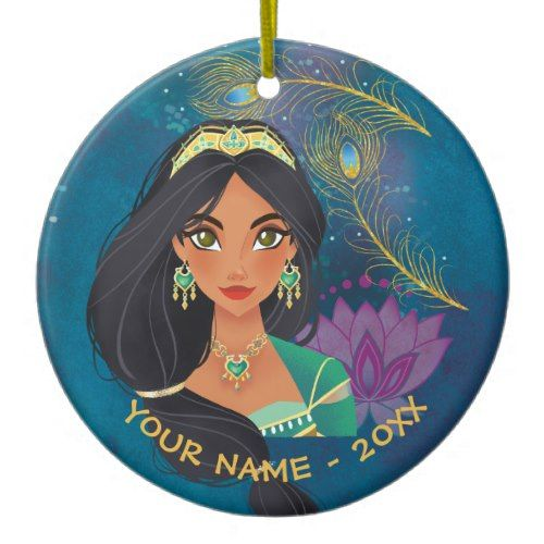 Aladdin Jasmine Be Heard Ceramic Ornament Zazzle Com Disney Christmas Ornaments Ceramic Ornaments Aladdin And Jasmine