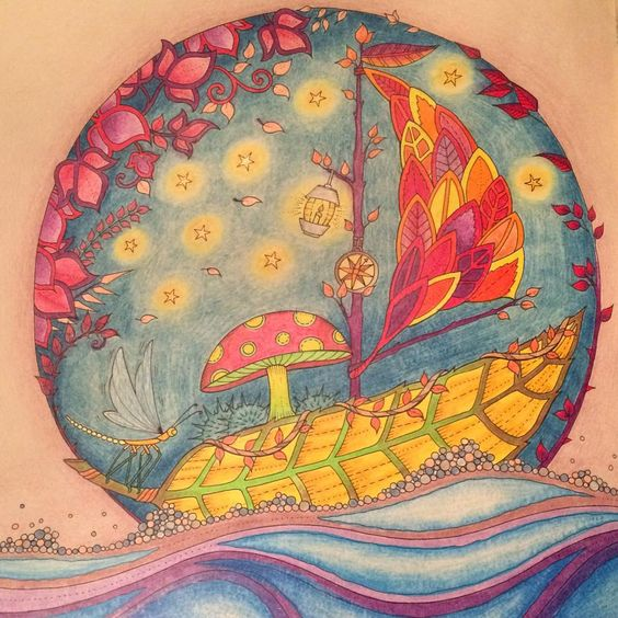 #johannabasford #adultcoloringbook #enchantedforest