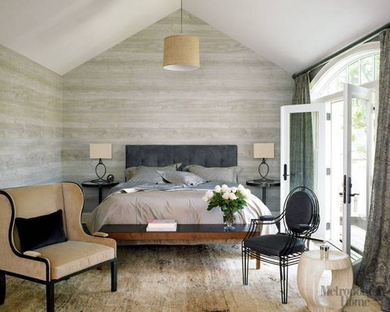 Feature walls, Bedroom ideas and Master bedrooms on Pinterest ~ Nobilis Faux Bois Wallpaper