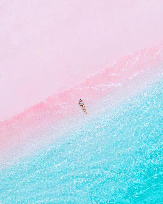 Pink Beach of Komodo Island, Indonesia, photo by @folkindonesia