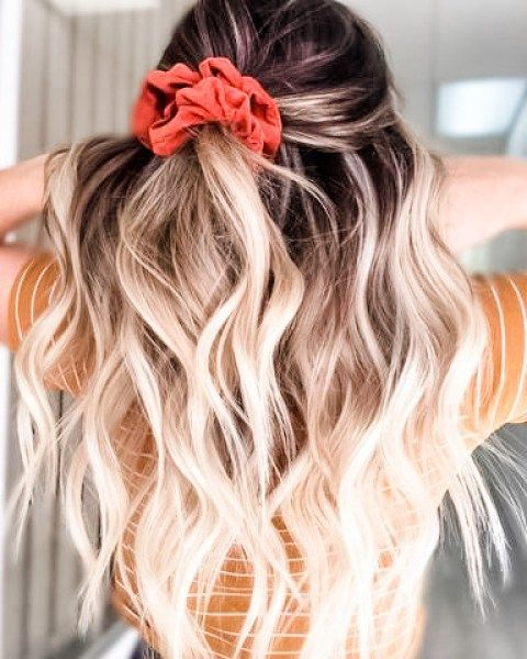 The Best Scrunchie Hairstyles For Today In 2020 Long Hair Styles Hair Styles Scrunchie Hairstyles