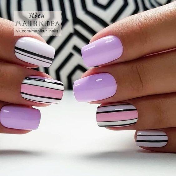 Toca La Imagen Y Aprende A Pintar Las Uñas De Una Manera Muy Bonita Y Fácil Paso A Paso Curso Gratis Elegant Nail Designs Elegant Nails Trendy Nails