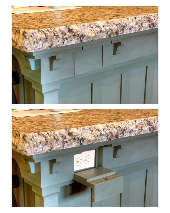 electrical outlets in kitchen island - Google Search