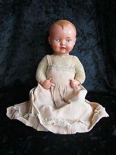 Sehr alte Puppe Junge von Schildkröt in Größe 25. alte Kleidung, sehr selten