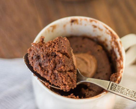 Peanut butter chocolate mug cake recipe