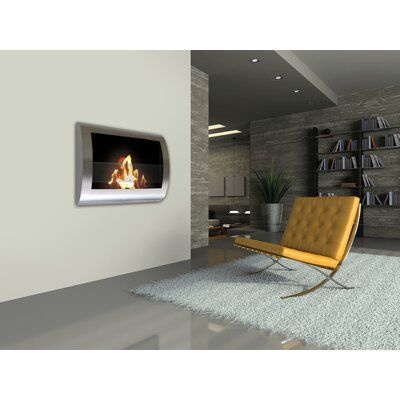 Orren Ellis Crafton Wall Mounted Bio Ethanol Fireplace Wayfair
