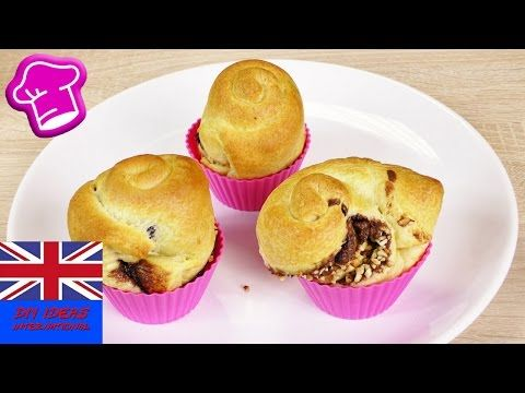 DELICIOUS NUTELLA CRUFFINS! Chocolate Croissant meets Muffin | easy & quick | only 3 ingredients - YouTube