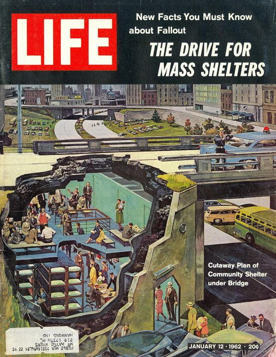 Life magazine, January 1962 (Nuclear fall-out shelters)