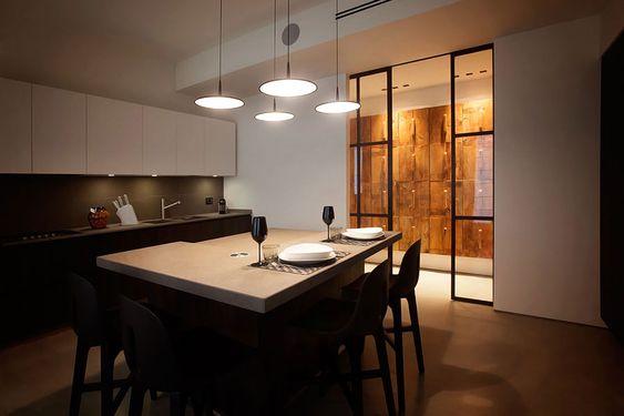 masculine apartment design by Fabio Fantolino