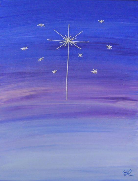 Вифлеемская звезда картинки как нарисовать