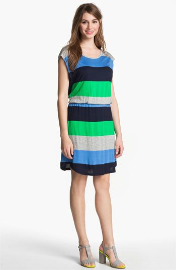 Two by Vince Camuto Stripe Jersey Blouson Dress $99