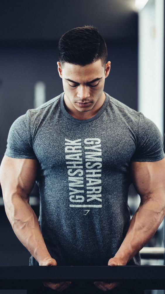 Gym King FITTED STRETCH Thé Fitness Sport T-Shirt Hommes Musculation Entraînement