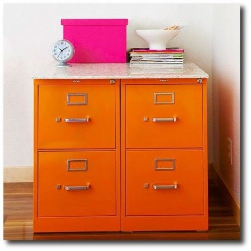 Spray painted file cabinets antique painted furniture for Spray painting cabinets